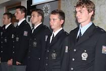 Slavnostní přijetí nováčků do řad státní policie v Olomouckém kraji