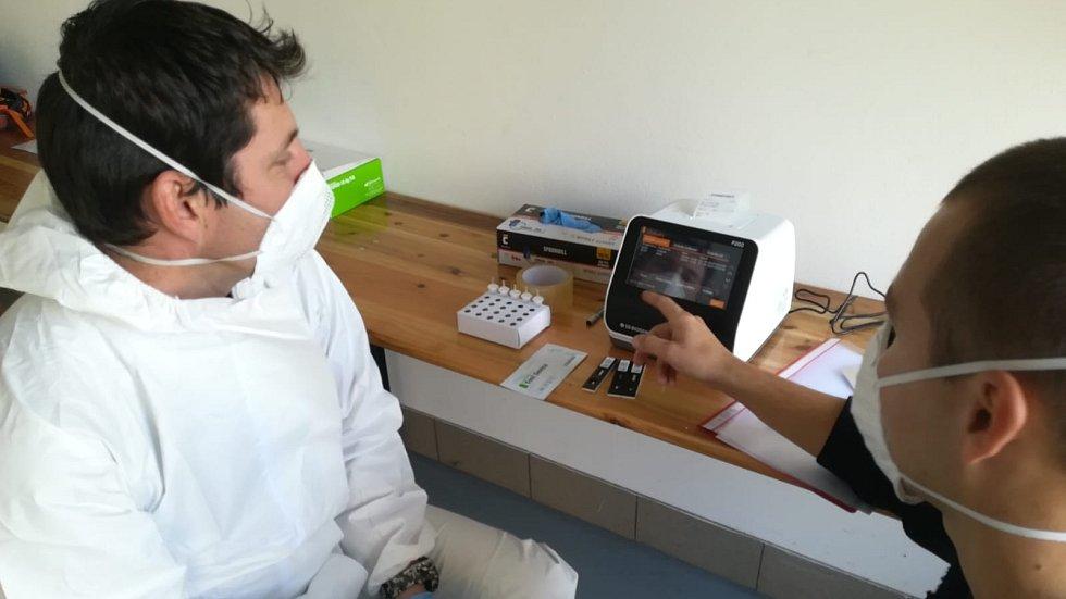 Hasičský mobilní odběrový tým Olomouckého kraje