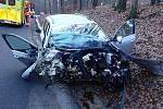 Dopravní nehoda u Bohuslavic na Zlínsku - 11. ledna 2021