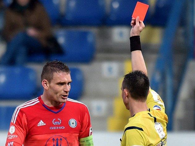 Za napadení libereckého Pulkraba dostal gólman Sigmy Miloš Buchta červenou kartu