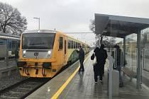Modernizovaná železniční trať Olomouc - Šternberk, Bohuňovice, 22. prosince 2020