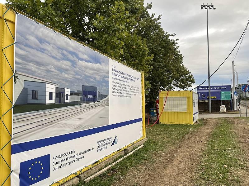 Stavba kryté haly pro tramvaje u olomouckého hlavního nádraží, 16. září 2021