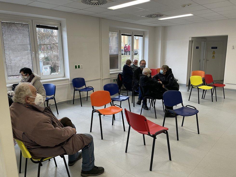 Fakultní nemocnice Olomouc otevřela nové očkovací centrum pro Covid-19, 21. ledna 2021