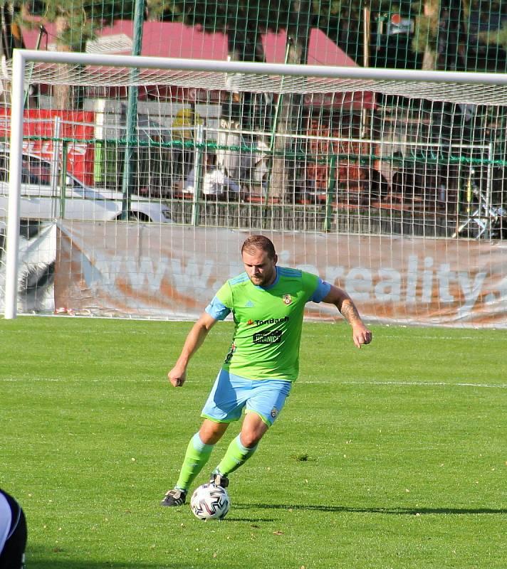 Fotbalisté 1. HFK Olomouc prohráli doma s Hranicemi 0:2. Radim Kundrát