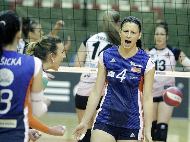 Olomoucké volejbalistky v play-off s Ostravou. Ilustrační foto