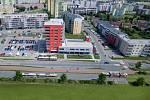 Rozšíření tramvajové trati na Nové Sady a do Slavonína: vizualizace křížení Schweitzerova - Voskovcova