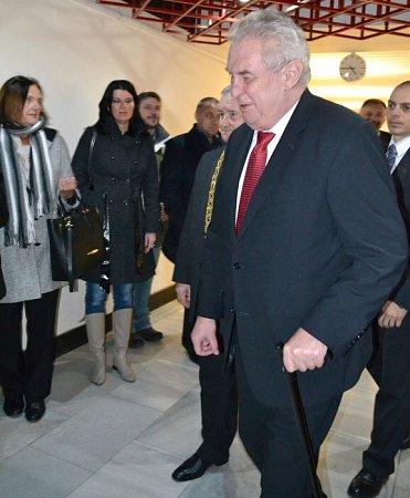 Prezident Miloš Zeman vprostějovském Kulturním klubu Duha