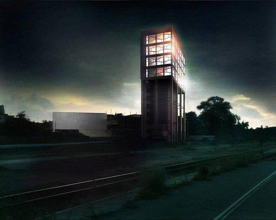 Vizualizace Silo Tower Olomouc. Zdroj: Hopr Group