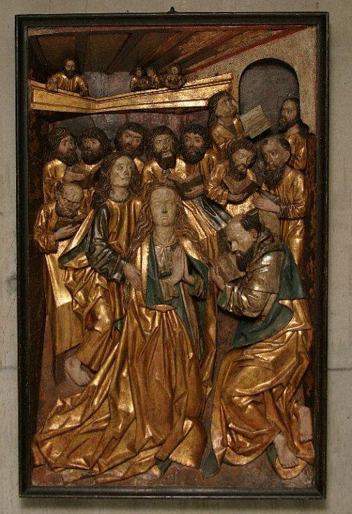 Reliéf Smrt P. Marie. Krátce po r. 1480.