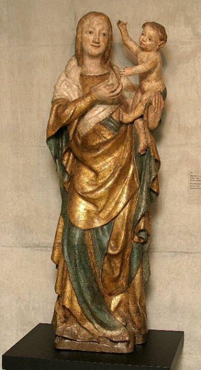 Madona z Lutína. Kolem roku 1380.
