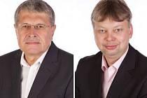 """""""Noví"""" radní v Olomouci: Jaromír Czmero (vlevo) jím byl už v letech 1998-2006, Miroslav Petřík od roku 1994 až do r. 2006"""