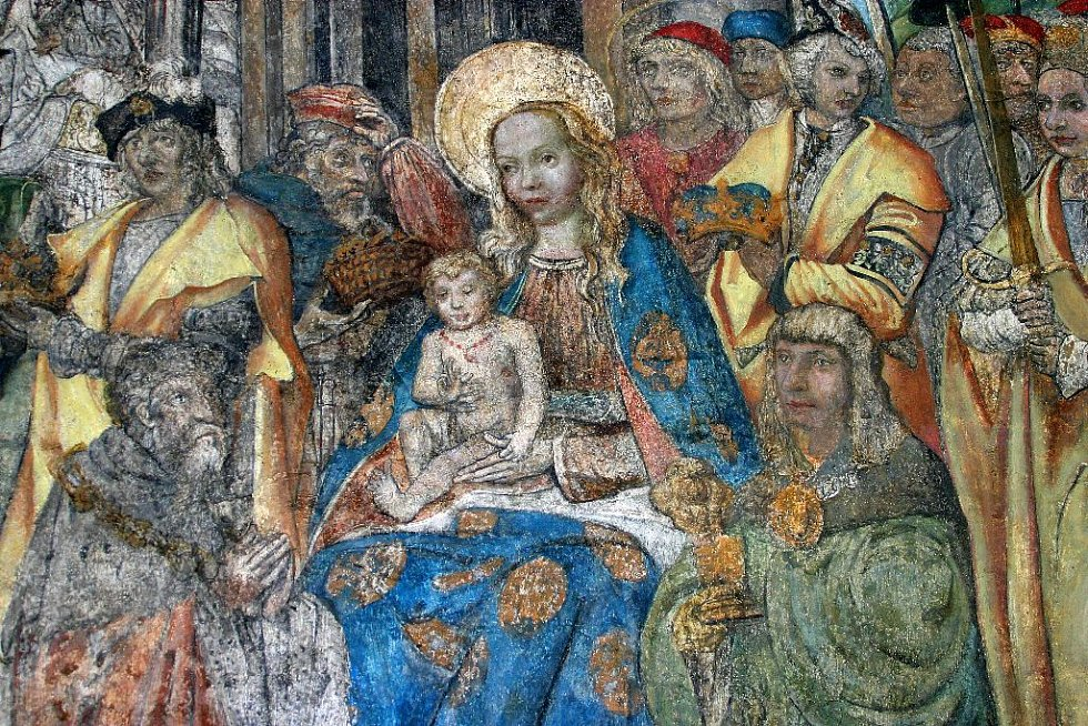 Fresky v  biskupském paláci v Olomouci.