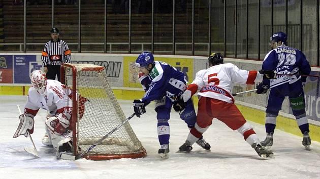 Štefan Žigárdy podržel Hanáky v Brně, na muže s maskou  se Kohouti budou chtít spolehnout i v dnešním utkání s Havířovem.