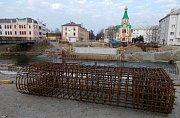 Stavba nového mostu v Komenského ulici v Olomouci. 24.3.2019