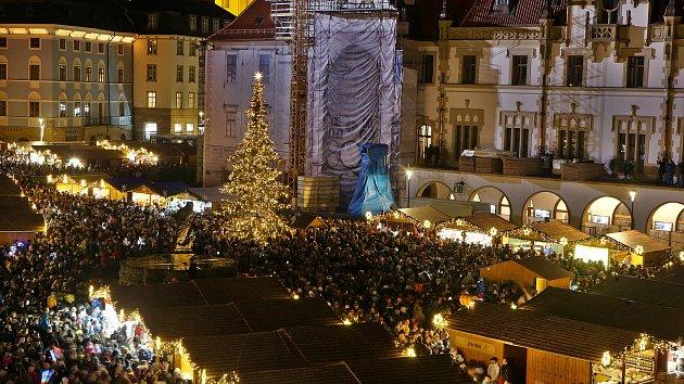 Rozsvěcení vánočního stromu v Olomouci 2019