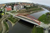 Koryto řeky Moravy na Nových Sadech v Olomouci