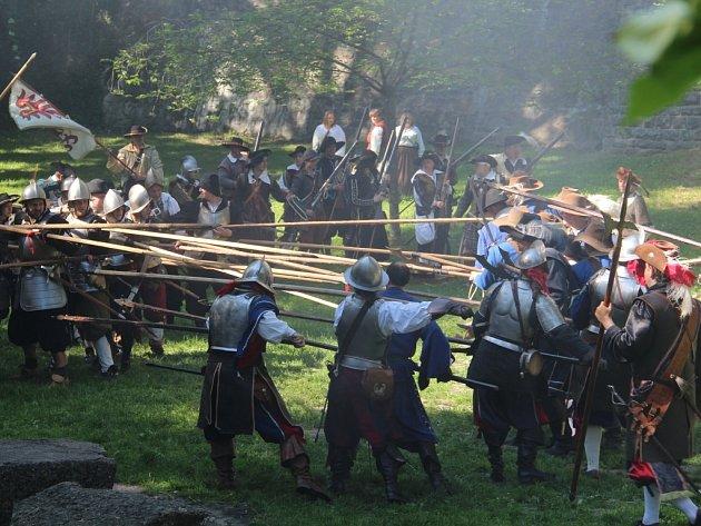 Bitva o Olomouc v Bezručových sadech