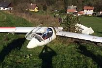 Havárie bezmotorového letadla v Jeseníku 2. listopadu 2014