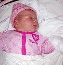 Eliška Damborová, Velká Bystřice, narozena 12. července v Olomouci, míra 53 cm, váha 3910 g