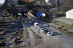 Křižovatka v Předmostí na příjezdu od Olomouce