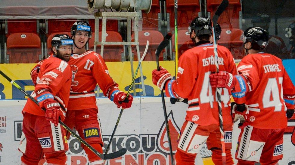 Hokejisté HC Olomouc hostili v utkání 45. kola Tipsport extraligy Litvínov.