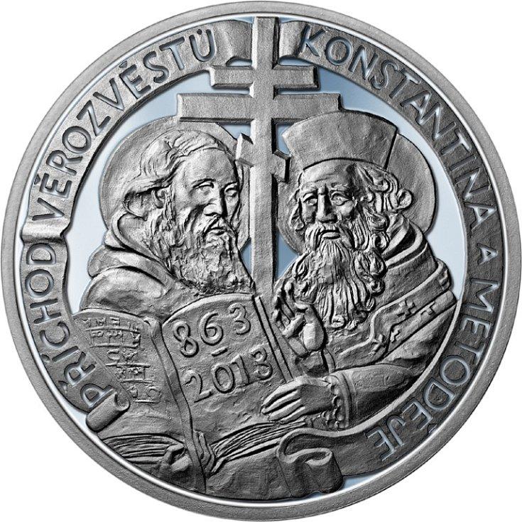 Stříbrná pamětní medaile - líc