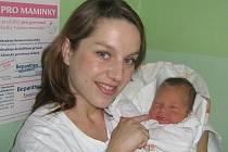 Amálie Kupková, Olomouc, narozena 12. října v Olomoucim míra 50 cm, váha 3850 g