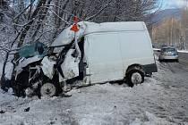 Dopravní nehoda mezi Heřmanovicemi a Zlatými Horami