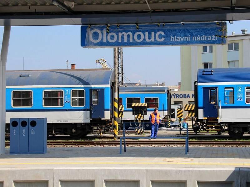 Nové 5. nástupiště na olomouckém hlavním nádraží