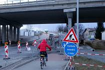 Prostějov - přestavba nadjezdů a sjezdů z D46, březen 2021