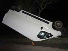 Nehoda Citroënu Jumper u Ujezdu u Uničova
