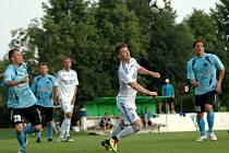 Fotbalisté Sigmy Olomouc (v bílém) prohráli v přípravném zápase s Nitrou 0:1.