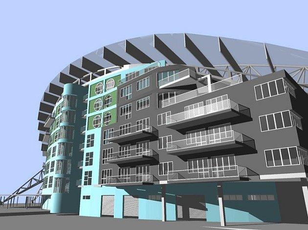 Vizualizace možné podoby jižní tribuny Androva stadionu