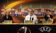 Tiskovka FC Fastav Zlín před zápasem Evropské ligy na Andrově stadionu v Olomouci