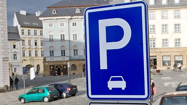Parkování v Olomouci. Ilustrační foto