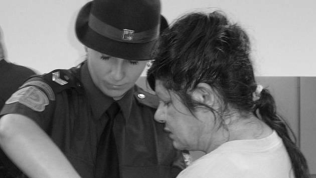 Albína Lacková před soudem