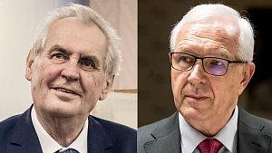 Soupeři pro druhé kolo prezidentských voleb: Miloš Zeman a Jiří Drahoš