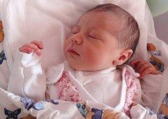 Klára Pajchlová, Mohelnice, narozena 5. června v Olomouci, míra 51 cm, váha 3470 g.