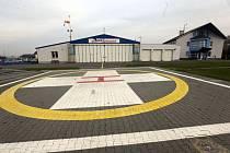Heliport letecké záchranné služby v Olomouci.