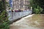 Most v Komenského ulici, Olomouc, 9. července 1997 dopoledne
