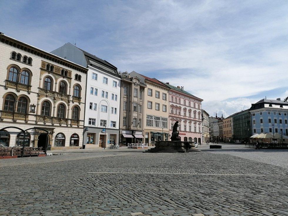 Filmová místa v Olomouci. Horní náměstí v Olomouci