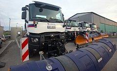 Technika firmy Eurovia pro zimní údržbu Olomouckého kraje