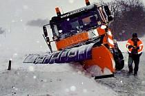 Sněhová nadílka v Olomouckém kraji. Ilustrační foto