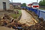 Vyplavený Šumvald a Břevenec, 8. června 2020 ráno