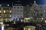 Rozsvěcení vánočního stromu v centru Olomouce. 22. 11. 2015