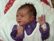 Anna Malecká, Domašov u Šternberka, narozena 18. září ve Šternberku, míra 50 cm, váha 3300 g