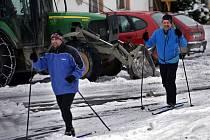 Běžkaři na Jívové. Pondělí 26. ledna 2015