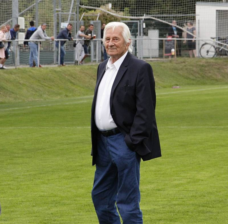 Karel Brückner na oslavách prostějovského fotbalu v září 2019