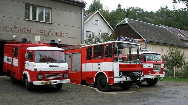 Vozový park hasičů v Náměšti.