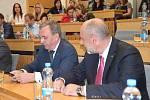 Prezident Zeman na setkání s krajskými zastupiteli v Olomouci